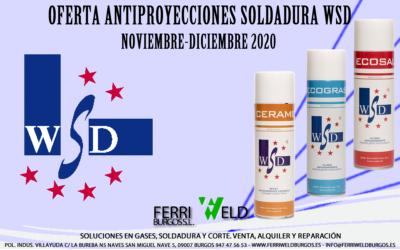 Oferta antiproyecciones soldadura WSD Noviembre-Diciembre 2020